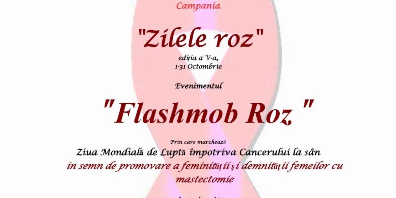 """Asociatia OncoPacientilor PHOENIX a marcat Ziua Mondiala de Lupta Impotriva Cancerului la San, prin evenimentul """"Flashmobul Roz"""""""