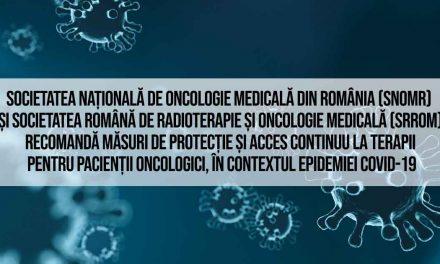 Recomandări SNOMR și SRROM în vederea reducerii impactului pandemiei COVID-19 asupra pacienților oncologici și asupra serviciilor de oncologie