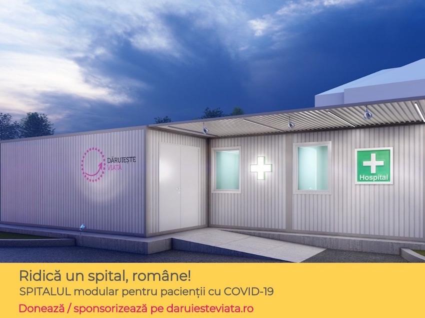 Asociaţia 'Dăruieşte Viaţă' ridică un spital modular pentru pacienţii cu COVID-19, în curtea Spitalului Elias