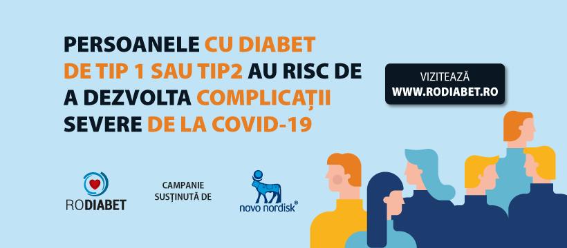 Portalul RoDiabet.ro demarează o campanie publică de informare și educare a persoanelor cu diabet pe timpul pandemiei COVID-19