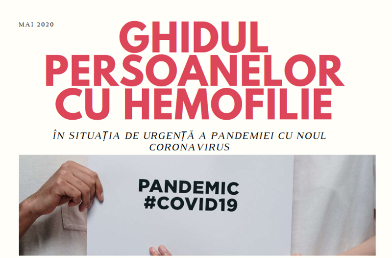 A apărut Ghidul persoanelor cu Hemofilie în situația de urgență a pandemiei de coronavirus