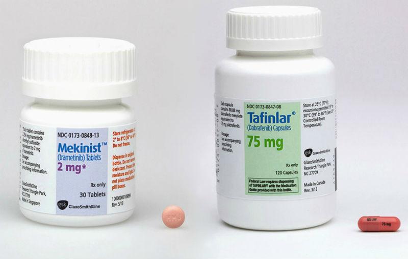 Combinația dabrafenib/trametinib crește supraviețuirea fără recidivă la pacienții cu melanom în stadiul III, cu mutații BRAF V600E/K