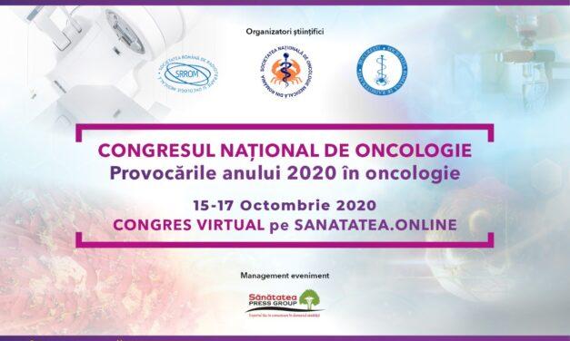 Congresul National de Oncologie 2020 – primul eveniment virtual din Oncologia românească, cu participare internațională