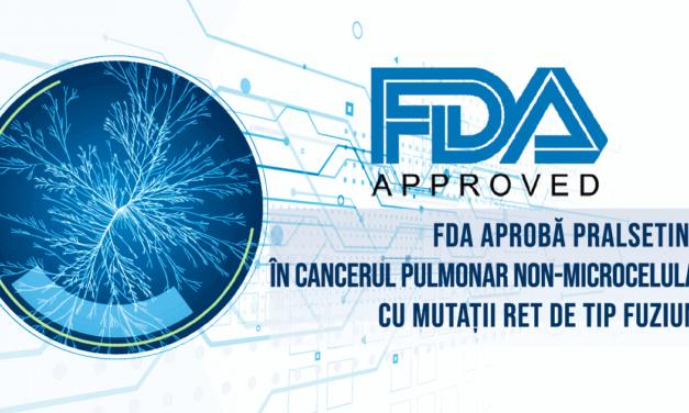 FDA aprobă pralsetinib, a doua terapie țintită pentru cancerul pulmonar non-microcelular cu mutații RET
