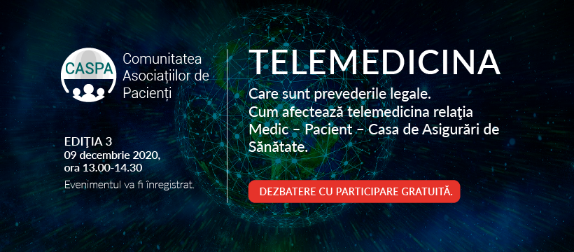 Serviciile de telemedicină și modurile de decontare: subiectul celei de-a treia întâlniri digitale a Comunității Asociațiilor de Pacienți – Caspa.ro