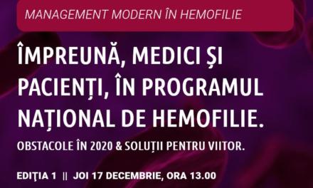 Posibile soluții și obstacolele întâlnite în funcționarea Programului Național de Hemofilie în 2020