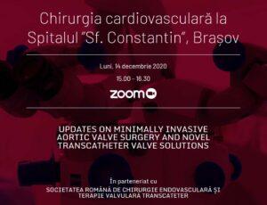 """Dezbatere Profesională online: """"Chirurgia cardiovasculară la Spitalul Sf. Constantin Brașov"""""""