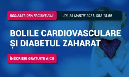 RoDiabet Ora Pacientului: discutăm despre Bolile Cardiovasculare și Diabetul zaharat