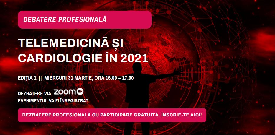 CardiologieModerna.ro: Telemedicină și cardiologie în 2021, subiectul primei întâlnirii a comunității