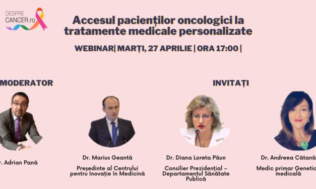 """Comunitate OSC – DespreCancer.ro: Accesul la medicina personalizată și viitorul tratamentului oncologic au fost temele celei de-a doua întâlniri """"Ora pacientului"""""""