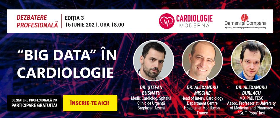 """Comunitatea OSC – Cardiologie Modernă: Discutăm despre """"Big Data în Cardiologie"""" la întâlnirea din 16 iunie"""