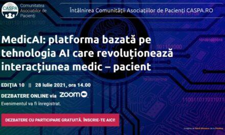 Comunitatea Caspa.ro: Află cum inteligența artificială lucrează în folosul pacienților, la întâlnirea din 28 iulie