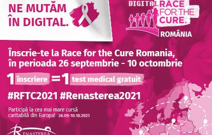 A şaptea ediţie Race for the Cure, 26 septembrie – 10 octombrie 2021, în format digital