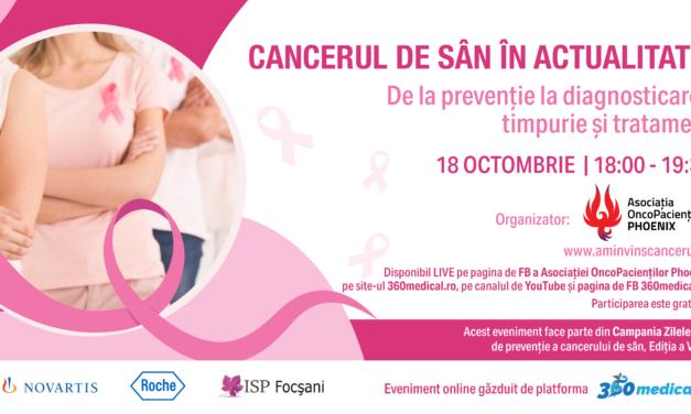 Cancerul de sân în actualitate – De la prevenție la diagnostic și tratament timpuriu