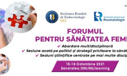 Societatea Română de Endocrinologie organizează Forumul pentru Sănătatea Femeii